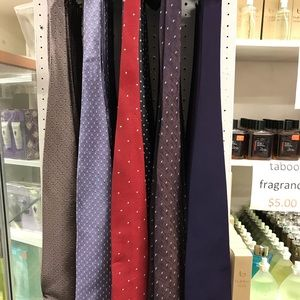 Men's Ties 3 for $15 100% polyester Red Blue Grey